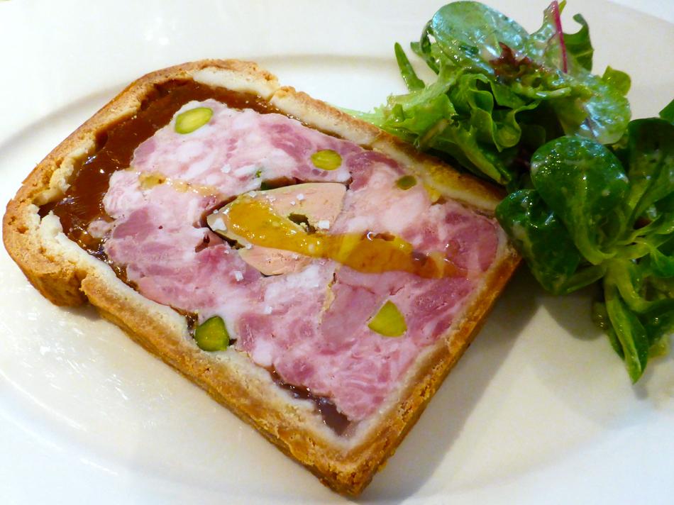 Terrine mit Bries und Foie gras