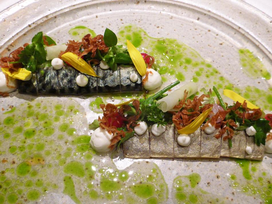 "Das kulinarische Werk: Tristan Brandt: ""Makrele – Kefir – Grünes Gemüse"""