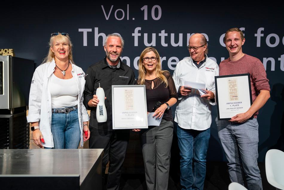 Die großen Abräumer beim Best-of-the-Best Award der CHEF-SACHE hießen Johannes King und sein Team, Ralf Bos und Heiko Antoniewicz.