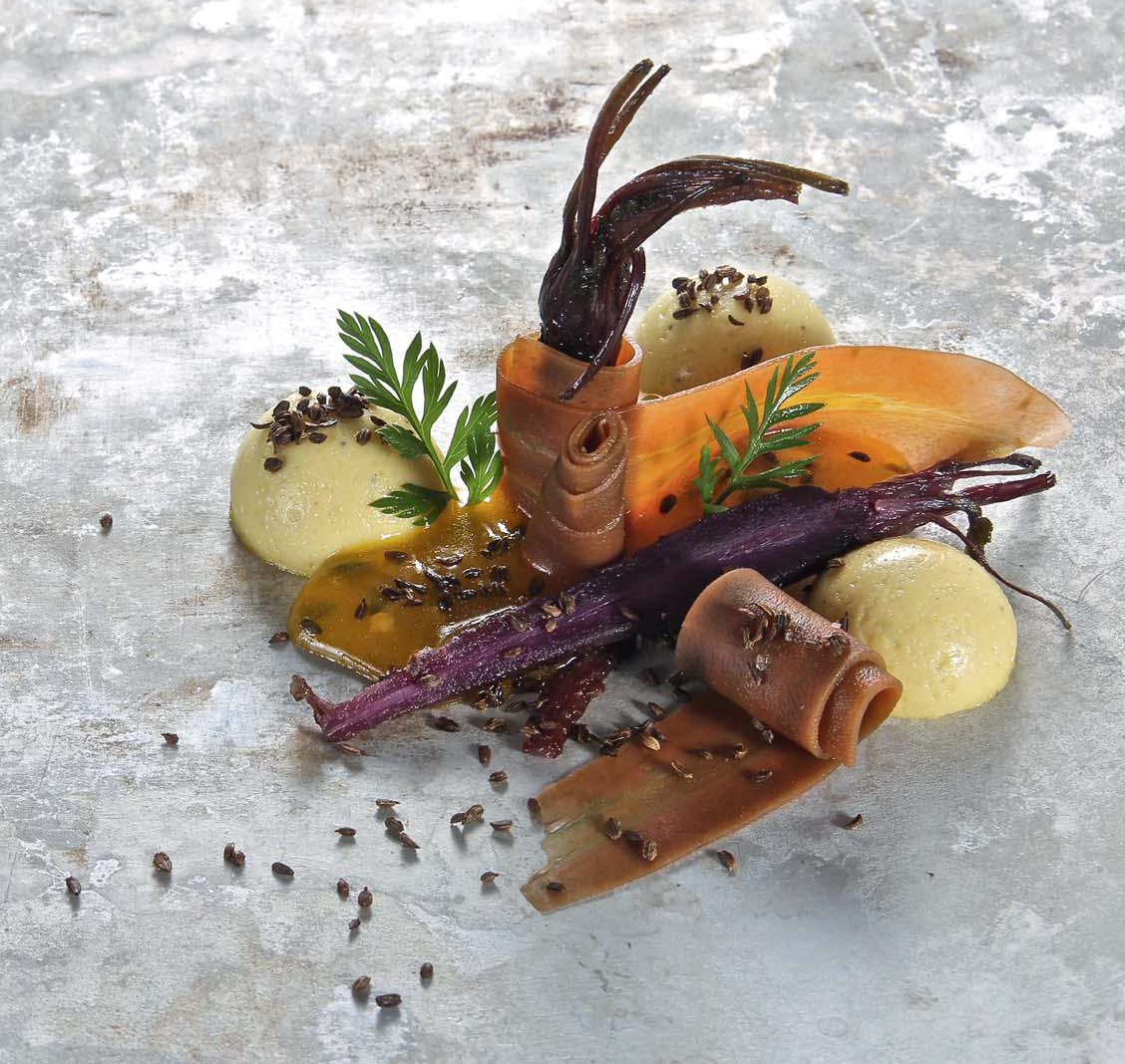Karotte in Texturen, Apfel, Maracuja, Christian Mittermeier